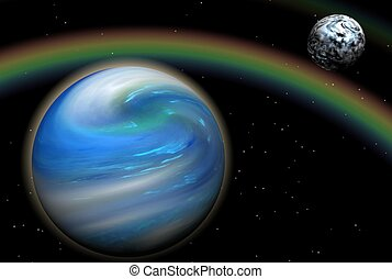 Rainbow in Space