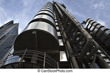Lloyds building - Futuristic steel Lloyd's building in...