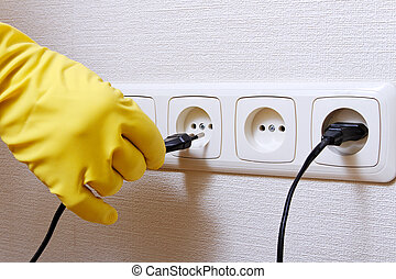 Hand and wall socket