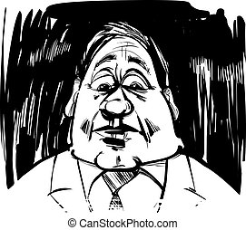 startled man caricature illustration - startled man...