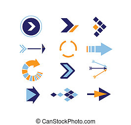 Directions Icons vector