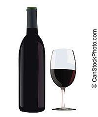 red wine vector