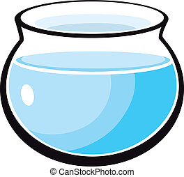 fish tank illustration - cartoon Illustration of empty fish...