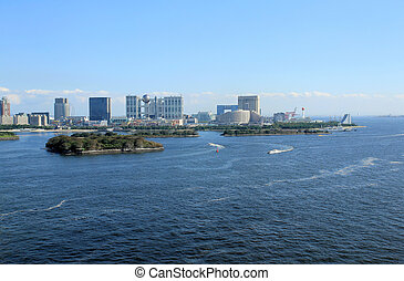 odaiba area - I took the Odaiba area from Rainbow Bridge.