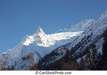 Peak Ine Dombai. Caucasus, the Russian resort
