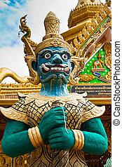 Demon guard statue