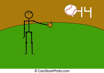 Juggling Baseball Player - Stick figure animation A baseball...