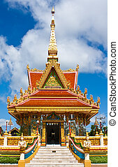 The Mondop Housing at the temple in Ubonratchathani,Thailand