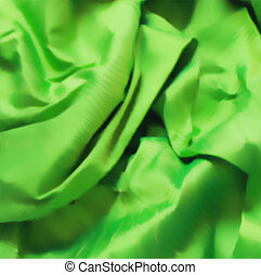 Green fabric texture for background. Vector