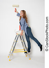 House painter woman