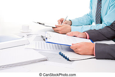 Business men - business men sitting at the desk working
