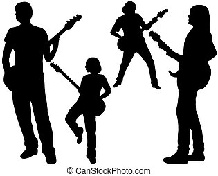 singing band silhouette