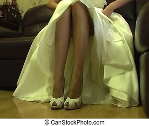 legs of young bride