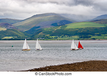 Sailboats in Anglesey, Wales
