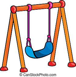 swing - garden swing cartoon illustration