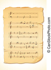 Musical Note Sheet - illustration of musical note sheet on...