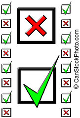 Tick Cross pattern - ticks and crosses in checkboxes pattern...