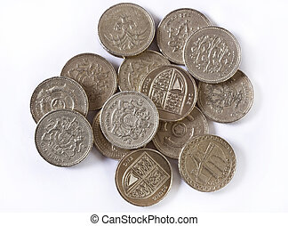 British pounds coins.