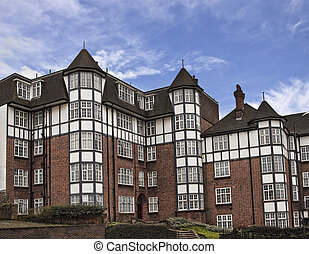 Tudor style building in London