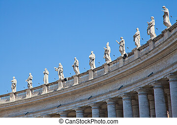 Vatican Statues - Statues in St. Peter Square (Rome, Italy)...
