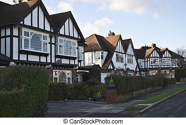 Tudor style houses in London