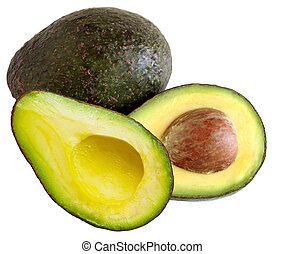 Avacado - Two avacadoes isolated on white background
