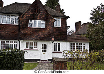 Tudor style house in London - Part of Tudor style house in...