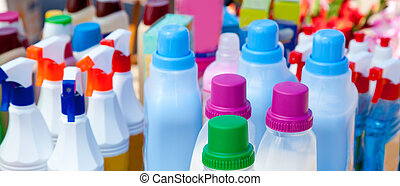 chemical products for cleaning chores - domestic chemical...
