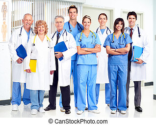 Doctors. - Group of smiling medical doctors. Health care.