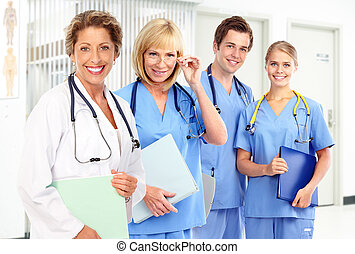 Doctors - Group of smiling medical doctors Health care
