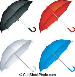 Umbrellas. - Set of 4 color umbrellas.