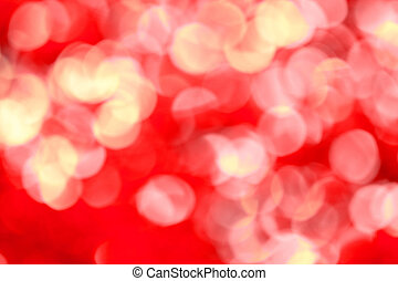 Abstract defocused blur red christmas lights