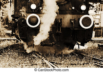 steam locomotive - an old steam locomotive