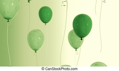 Balloons floating up Loop HD 036 - Balloons floating up Loop...