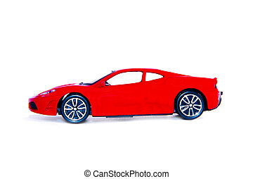 red car isolated on white background