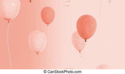 Balloons floating up Loop HD 037 - Balloons floating up Loop...