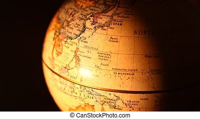 Globe - Close-up old globe