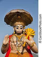 Indian mythological monkey God Hanuman