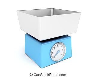 Blue retro kitchen weight scale