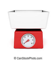 Retro kitchen weight scale