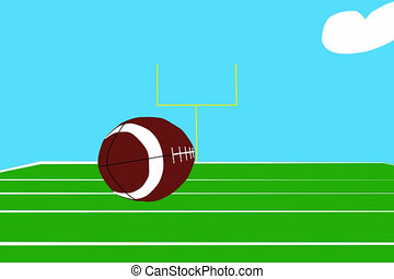 Football Touchdown - Animation - an American football player...