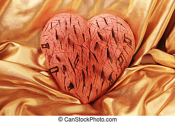 heart  - A heavily wounded heart with scalpels