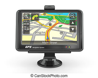 Navigation system Gps 3d - Navigation system Gps on white...