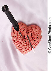 heart  - A heavily wounded heart with two knives