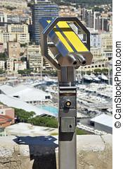 Touristic binoculars - Touristic binocular in yellow Optical...