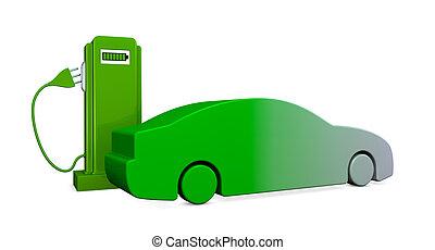 recharging a car