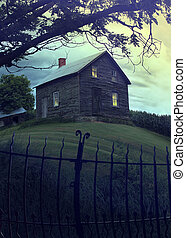 Abandoned haunted house on the hill - Abandoned haunted...