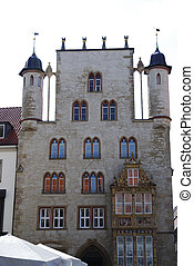 Hildesheim - Tempelhaus in the Historic Market Place of...