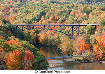 Bridges - Popolopen Bridge and Fort Montgomery foot bridge...