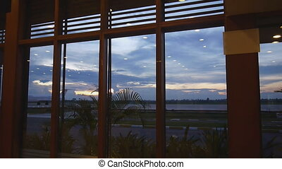 Siem Reap airport sunset - Sunset landscape of Siem Reap...